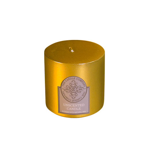 Gold Pillar Candle
