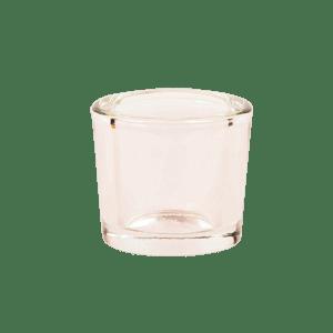 glass tealight holder pink
