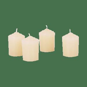 Ivory Votive Candles