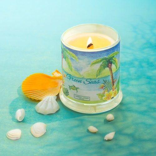 green Seas Beeswax Candle