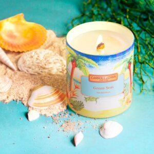 Green Seas Beeswax Jar Candle