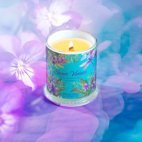 Sweet Violets Beeswax Candle