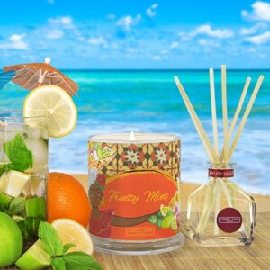 Fruity Mint Beeswax Candle