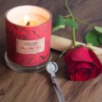 Red Red Rose Beeswax Candle
