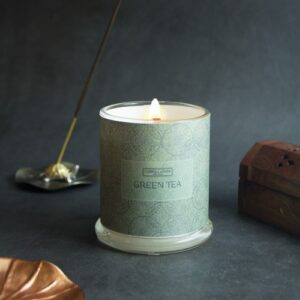 Green Tea Beeswax Candle