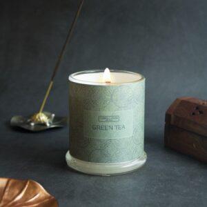 Green Tea Beeswax Candle
