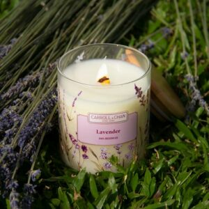 Lavender Beeswax jar Candle