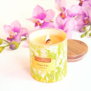 Ginger Lily Candle, beeswax jar