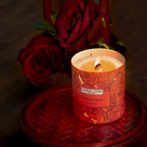 Red Red Rose Beeswax Jar Candle