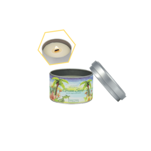 Green Seas Beeswax Tin Candle