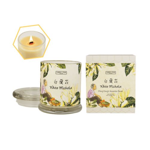 White Michelia Beeswax Jar Candle