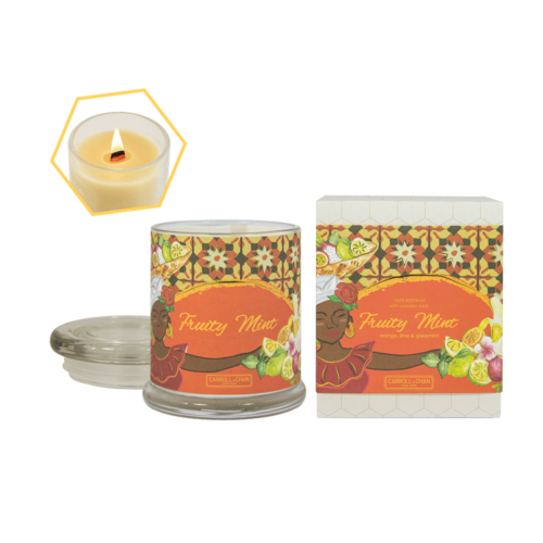 Fruity Mint Beeswax Tin Candle