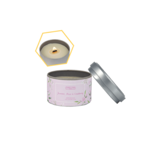 Jasmine, Rose & Cranberry Tin Candle
