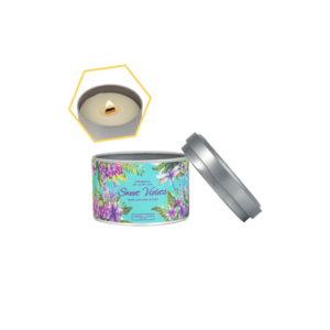 Sweet Violets Tin Candle