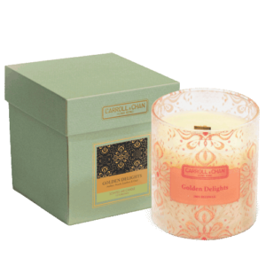 Golden Delights natural beeswax candle