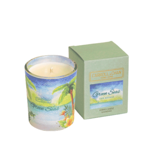 Green Seas Votive Candle, beeswax