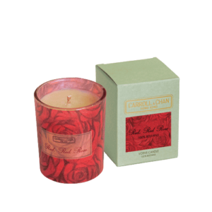 Red Red Rose Beeswax Votive Candle