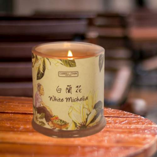 White Michelia Beeswax Candle