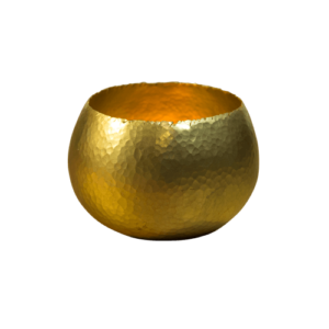 Gold-coloured small tealight holder
