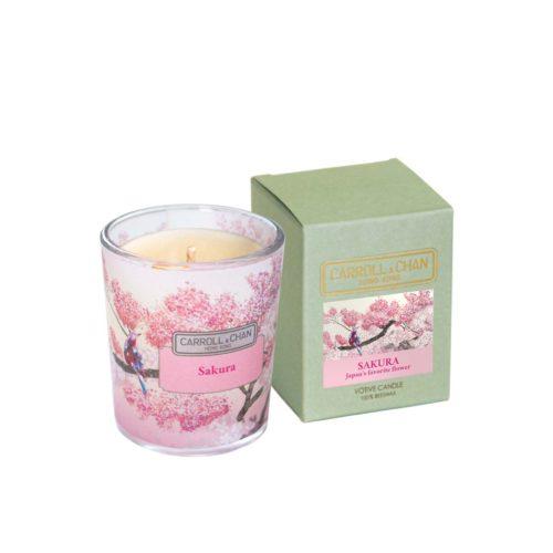 Votive beeswax candle Sakura fragrance