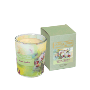 Moon Orchid Beeswax Votive Candle