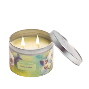 Moon Orchid Tin Candle
