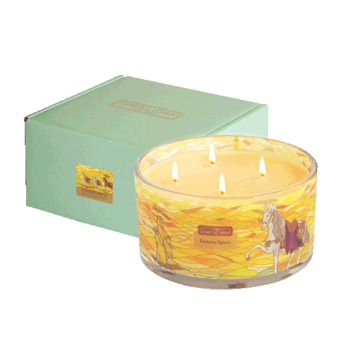 Eastern Spices 4 wick beeswax candle