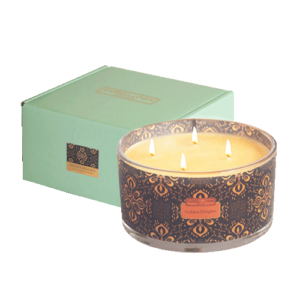 Golden Delights 4 wick beeswax candle