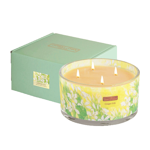 Ginger Lily 4 Wick Beeswax Candle