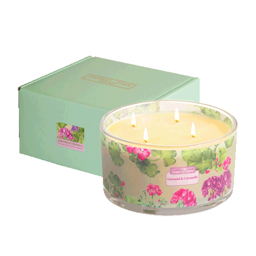 Geraniol and citronella 4 wick beeswax candle