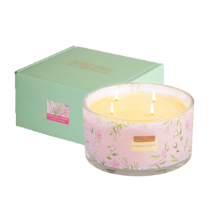 Jasmine rose cranberry 4 wick beeswax candle