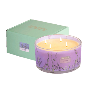 Lavender 4 wick beeswax candle