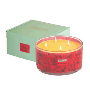 Red Red Rose 4 wick beeswax candle