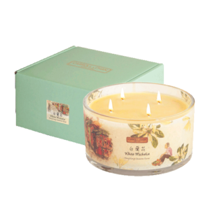 White Michelia 4 wick beeswax candle