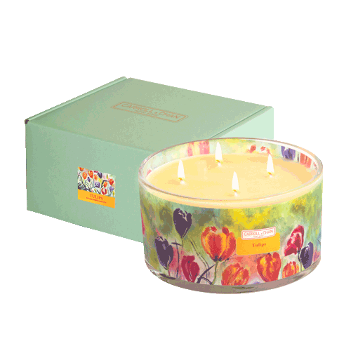 Large Tulips Beeswax Candle