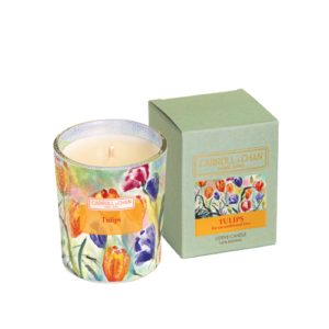 Tulips Votive Candle Beeswax
